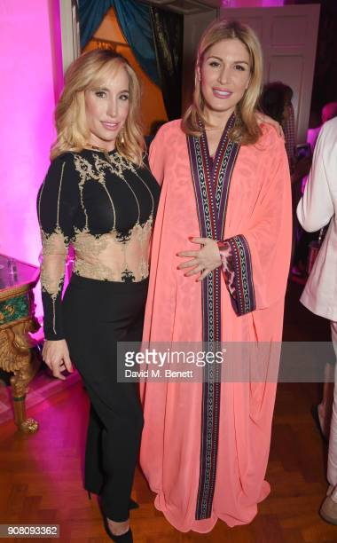 Joy Desmond and Hofit Golan attend Lisa Tchenguiz's birthday party on January 20 2018 in London England
