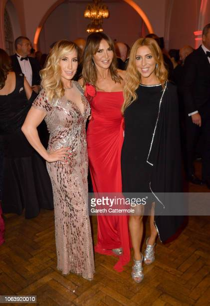 Joy Desmond Lizzy Cundy and Kate Walsh attend the Together For Short Lives 'Nutcracker Ball' at One Marylebone on November 20 2018 in London England...
