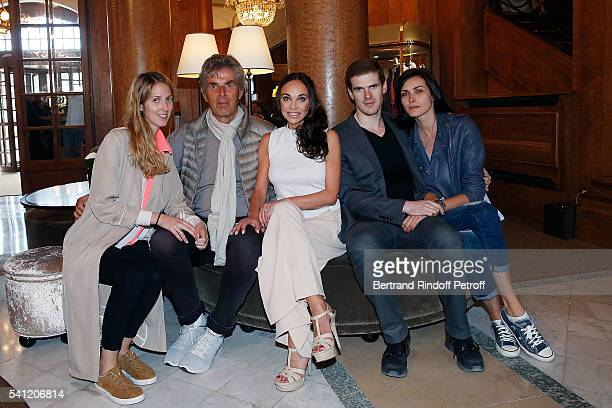 Joy Desseigne, Dominique Desseigne Alexandra Cardinale, Alexandre Desseigne and his partner attend the Hotel Normandy Re-Opening at Hotel Normandy on...
