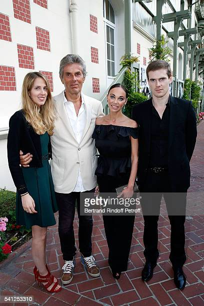 Joy Desseigne, Dominique Desseigne, Alexandra Cardinale and Alexandre Desseigne attend the Hotel Normandy Re-Opening at Hotel Normandy on June 18,...