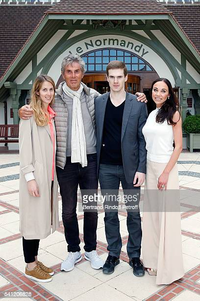 Joy Desseigne, Dominique Desseigne, Alexandre Desseigne and Alexandra Cardinale attend the Hotel Normandy Re-Opening at Hotel Normandy on June 18,...