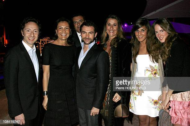 Joy Desseigne, Pia of Brantes, Pandora Pearso de Brantes, Stephane Bern at 'Opening of the Naoura Barriere Palace' in Marrakech, Morocco on March...