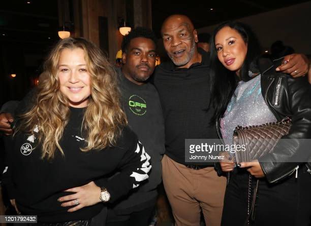 Joy Enriquez Rodney Jerkins Mike Tyson and Lakiha Spicer attend Primary Wave x Island Records presented by Mastercard at 1 Hotel West Hollywood on...