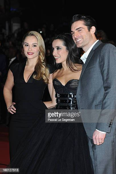 Joy Esther Isabelle Vitari and Gil Alma attend the NRJ Music Awards 2013 at Palais des Festivals on January 26 2013 in Cannes France