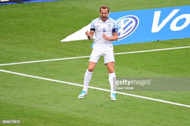 Joy for Harry Kane of England as he puts his side 10 ahead during the International friendly match between France and England at Stade de France on...