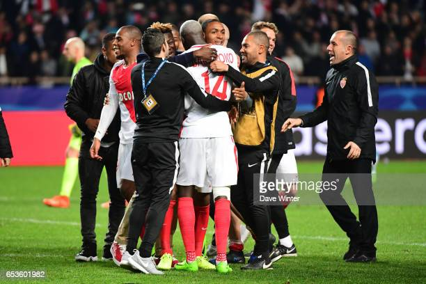 Joy for Monaco as they win the Uefa Champions League match between As Monaco and Manchester City round of 16 second leg at Stade Louis II on March 15...