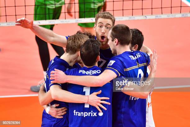 Joy for Paris during the Ligue A match between Paris Volley and Tourcoing on March 16 2018 in Paris France