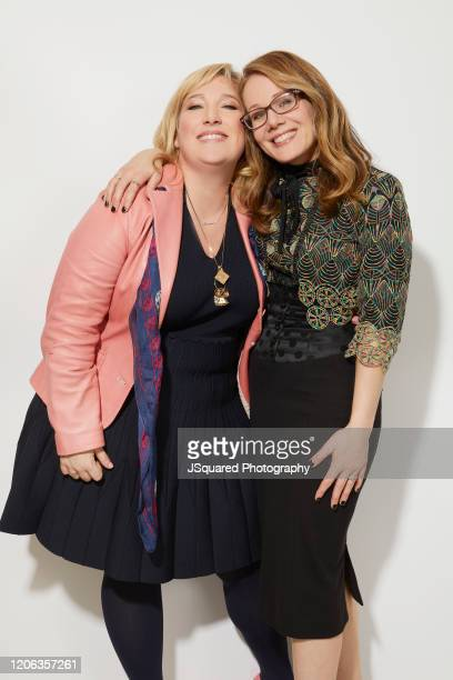 Joy Gorman Wettels and Dana Fox of Apple TV's Home Before Dark pose for a portrait during the 2020 Winter TCA Portrait Studio at The Langham...