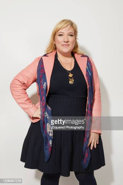 Joy Gorman Wettels of Apple TV's Home Before Dark poses for a portrait during the 2020 Winter TCA Portrait Studio at The Langham Huntington Pasadena...