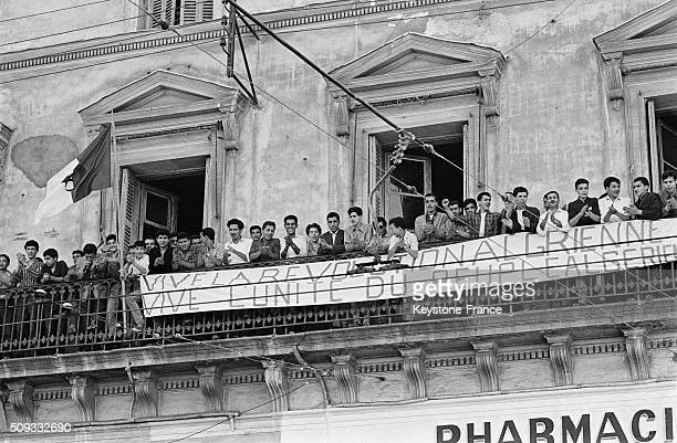 Joy In The Streets After The Proclamation Of Independence in Algiers Algeria on July 4 1962