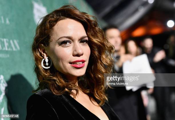 Joy Lenz attends Women In Film PreOscar Cocktail Party presented by Max Mara and Lancome with additional support from Crustacean Beverly Hills...