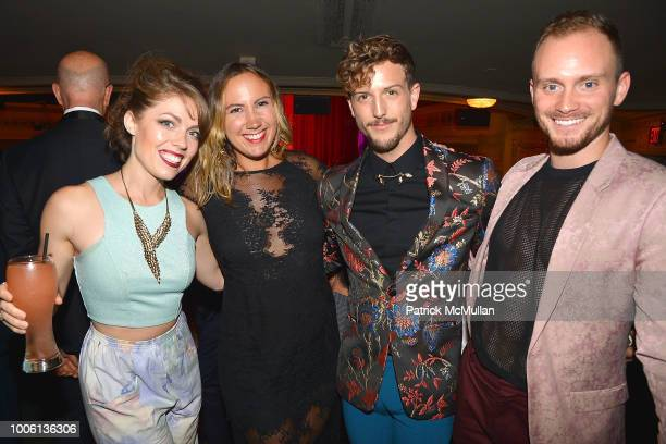 Joy Marchetti Amanda Lyon Tanner Ray Wilson and Jakob Karr attend the 'Head Over Heels' Broadway Opening Night Party at Guastavino's on July 26 2018...