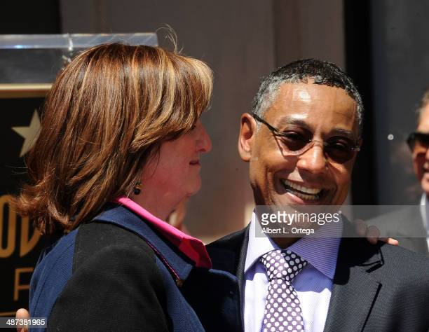 Joy McManigal and actor Giancarlo Esposito attend the Giancarlo Esposito Star Ceremoney On The Hollywood Walk Of Fame on April 29 2014 in Hollywood...