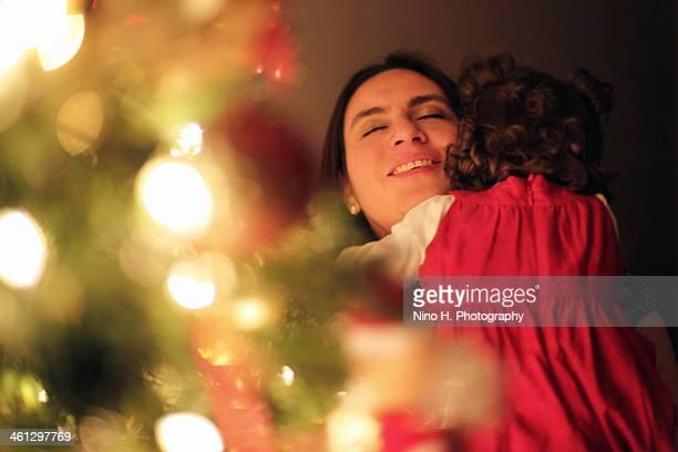 Joy near the Christmas Tree