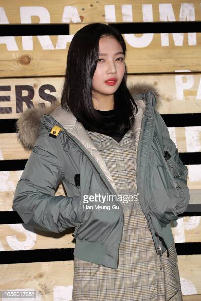 Joy of girl group Red Velvet attends the photocall for the 'PARAJUMPERS' 2018 F/W Presentation on November 1 2018 in Seoul South Korea
