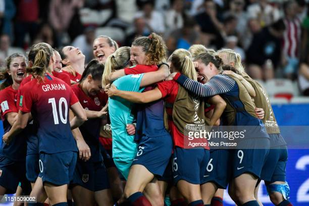 Joy of Norway during the Women's World Cup match between Norway and Australia at Allianz Riviera Stadium on June 22, 2019 in Nice, France.