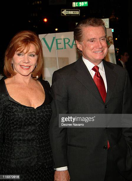 Joy Philbin and Regis Philbin during Donald Trump Hosts the Opening Night Reception of Veranda New York's Best at Trump Park Avenue The Ultimate...