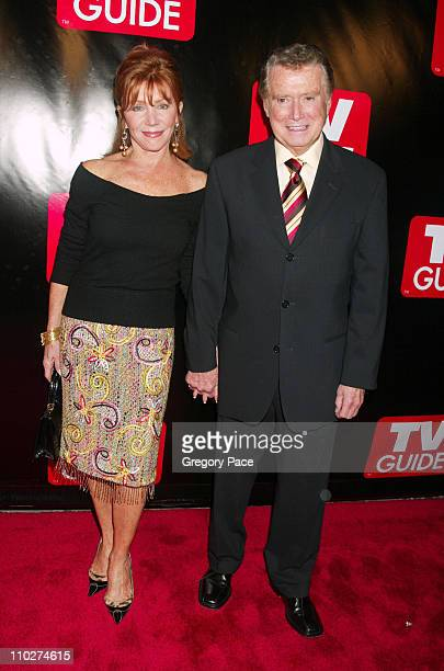 Joy Philbin and Regis Philbin during Launch of the New Big TV Guide Magazine Red Carpet Arrivals at Home and Guest House in New York City New York...