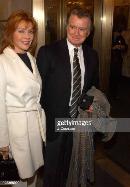 Joy Philbin and Regis Philbin during Opening Night of 'Sly Fox' on Broadway Arrivals at Ethel Barrymore Theatre in New York City New York United...