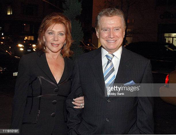 Joy Philbin and Regis Philbin during Regis Philbin Hosts a Party for Steve Tyrell in Celebration of His Return to the Carlyle November 15 2006 at...