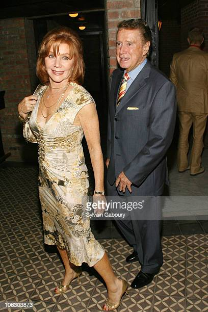 Joy Philbin and Regis Philbin during The Cinema Society and Donna Karan hosted an after party for Evening at The Bowery Hotel at 335 Bowery in New...