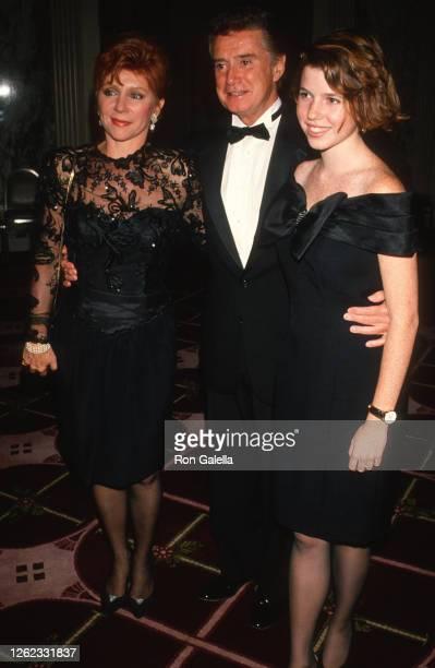 Joy Philbin, Regis Philbin and Joanna Philbin attend American Celtic Ball at the Waldorf Hotel in New York City on October 10, 1990.
