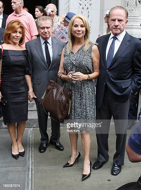 Joy Philbin Regis Philbin Kathy Lee Gifford and Frank Gifford attend the funeral service for Marvin Hamlisch at Temple EmanuEl on August 14 2012 in...