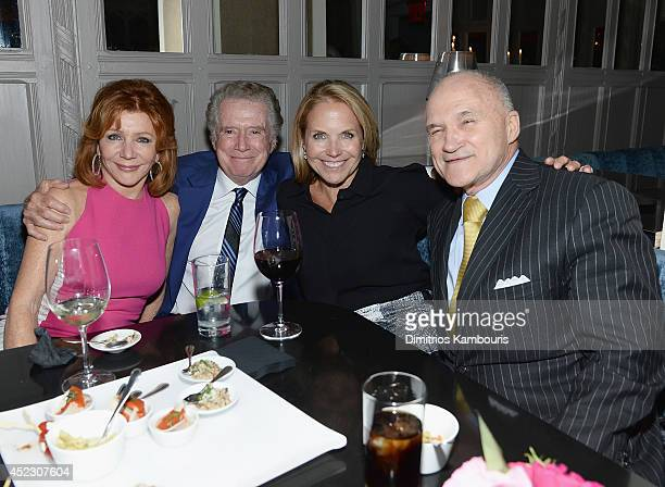 Joy Philbin Regis Philbin Katie Couric and Ray Kelly attend 'Magic In The Moonlight' premiere after party at Harlow on July 17 2014 in New York City