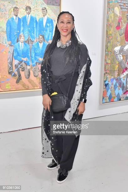 Joy Simmons at OPENING NIGHT   ART LOS ANGELES CONTEMPORARY 9TH EDITION at Barkar Hangar on January 25 2018 in Santa Monica California