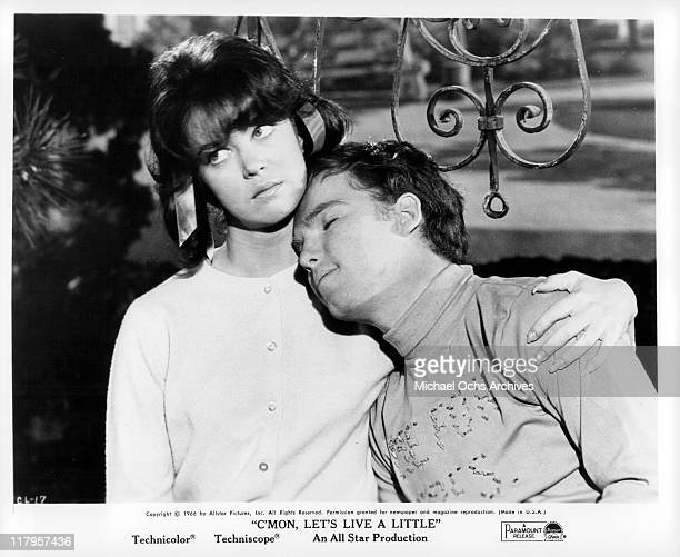 Joy Tobin holds Eddie Hodges in a scene from the film 'C'Mon Let's Live A Little' 1967