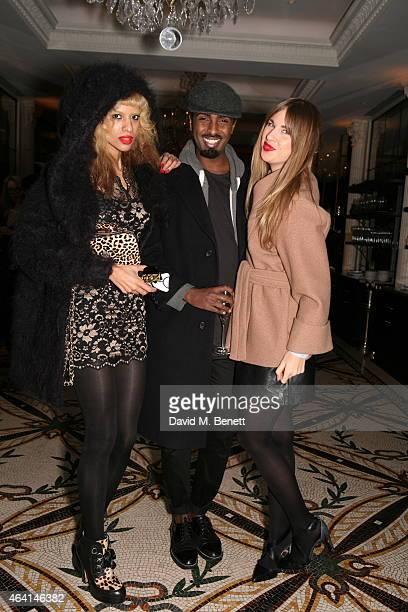 Joy Vieli Mason Smillie Francesca Hodge attends the PPQ postshow dinner during London Fashion Week Fall/Winter 2015/16 at Brasserie Chavot on...