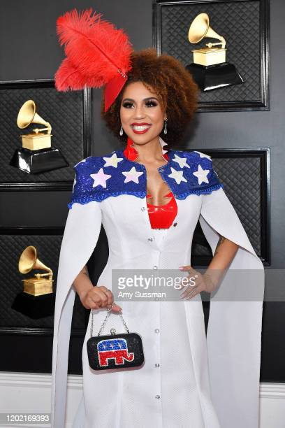 Joy Villa attends the 62nd Annual GRAMMY Awards at Staples Center on January 26, 2020 in Los Angeles, California.