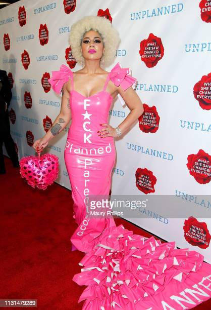 Joy Villa attends the 'Unplanned' Red Carpet Premiere on March 18, 2019 in Hollywood, California.