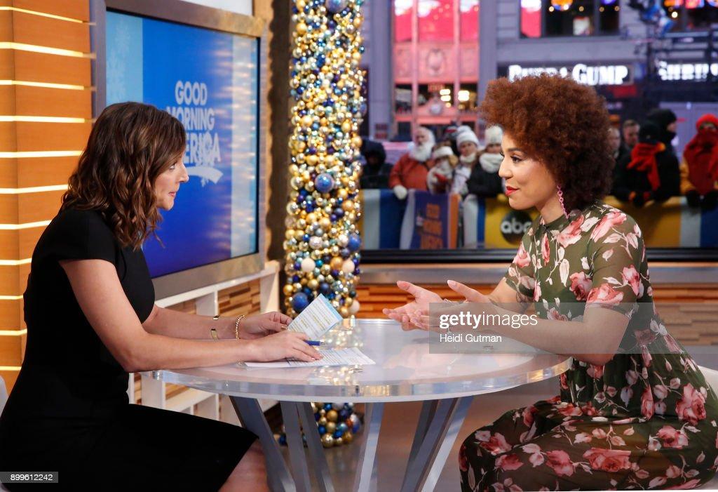 AMERICA - Joy Villa discusses the sexual harassment claim against Corey Lewandowski on 'Good Morning America,' 12/29/17, airing on the ABC Television Network. PAULA