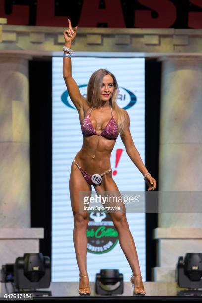 Joy Zoggia competes in Amateur Bikini A at the Arnold Amateur IFBB / NPC International Bodybuilding Fitness Figure Bikini and Physique Championships...