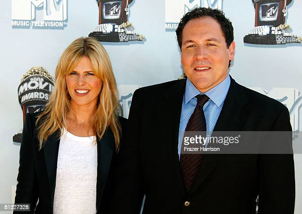 Joya Tillem and director Jon Favreau arrive at the 17th annual MTV Movie Awards held at the Gibson Amphitheatre on June 1 2008 in Universal City...