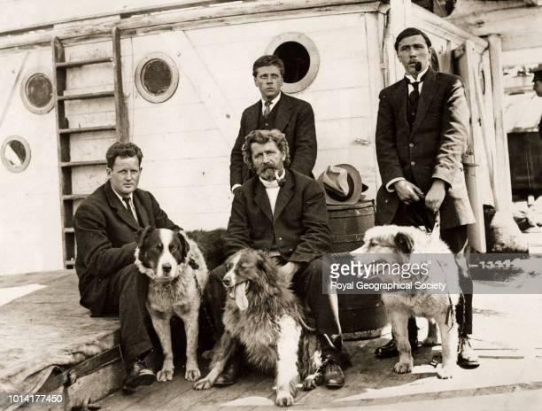 Joyce and fellow team members with dogs Antarctica 1913 Imperial TransAntarctic Expedition 19141917