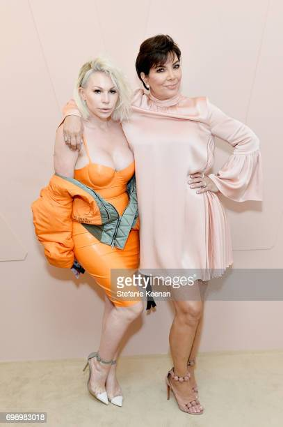 Joyce Bonelli and Kris Jenner celebrate The Launch Of KKW Beauty on June 20, 2017 in Los Angeles, California.