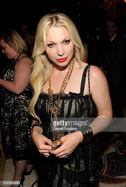 Joyce Bonelli arrives at Vegas Magazine's 7th Anniversary party at Surrender Nightclub at Encore Las Vegas on June 19 2010 in Las Vegas Nevada