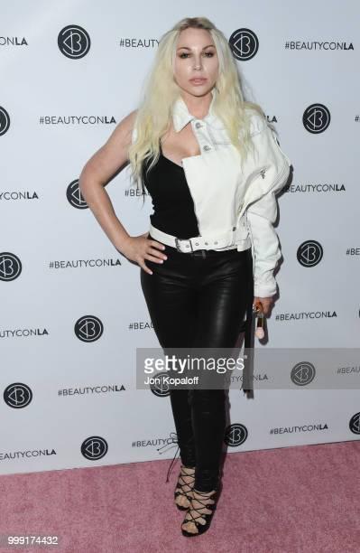 Joyce Bonelli attends Beautycon Festival LA 2018 at Los Angeles Convention Center on July 14 2018 in Los Angeles California
