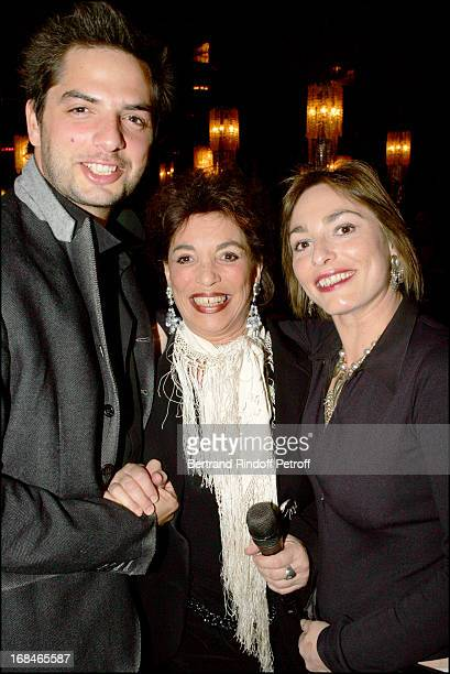Joyce Bunuel with children Juliette and Diego at Dalida TV Film Tribute To The Singer