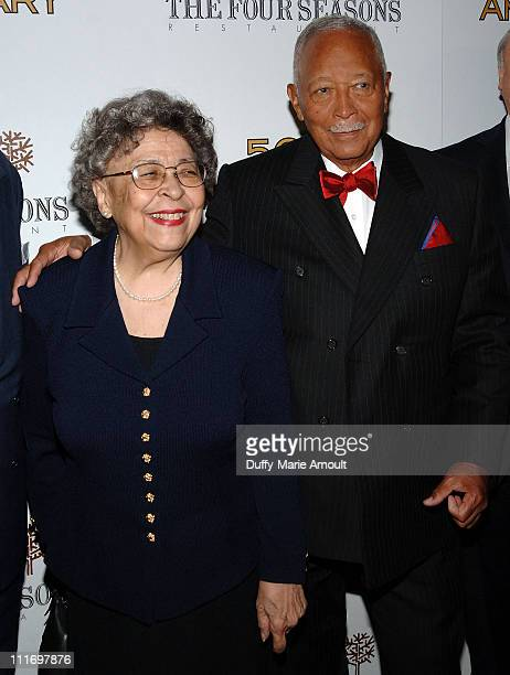 Joyce Dinkins and former NYC mayor David Dinkins attend the 50th Anniversary gala at Four Seasons Hotel New York on June 11 2009 in New York City