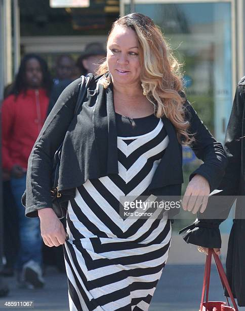 Joyce Hawkins leaves the H Carl Moultrie 1 Courthouse after it was announced the start of Chris Brown's assault trial is to be pushed back to...