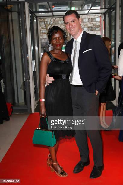 Joyce Hermlin and Andrej Hermlin attend the Victress Awards gala on April 9 2018 in Berlin Germany