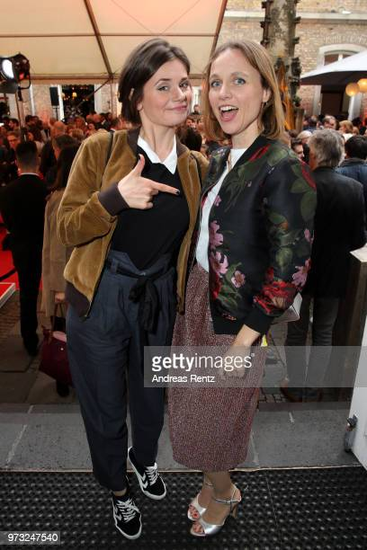 Joyce Ilg and Nadja Becker attend the 'Film und Medienstiftung NRW' summer party at Wolkenburg on June 13 2018 in Cologne Germany