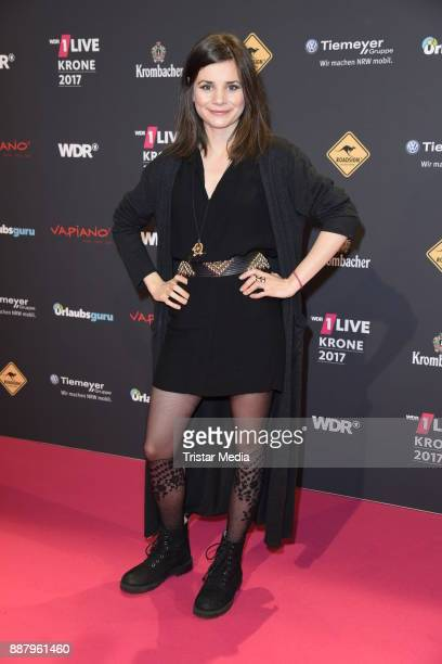 Joyce Ilg attends the 1Live Krone radio award at Jahrhunderthalle on December 7 2017 in Bochum Germany