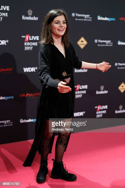 Joyce Ilg attends the 1Live Krone radio award at Jahrhunderthalle on December 07 2017 in Bochum Germany