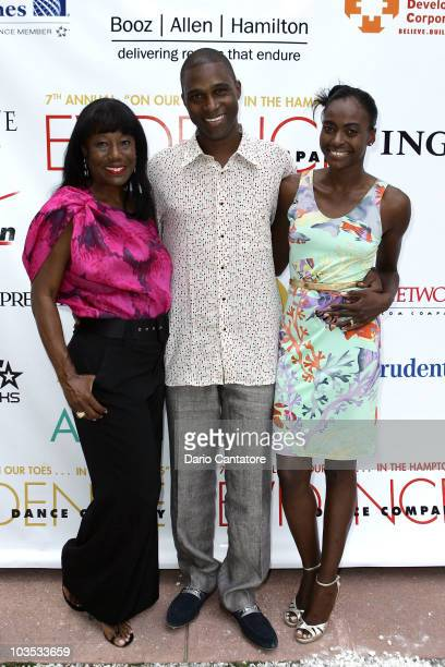 "Joyce Jackson, Princess Keisha Omilana and Prince Kunle Omilana of Nigeria attend the 7th Annual ""On Our Toes In The Hamptons"" fundraiser at a..."