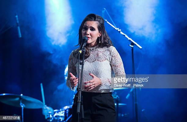 Joyce Jonathan performs during private showcase at Divan du Monde on October 14 2014 in Paris France