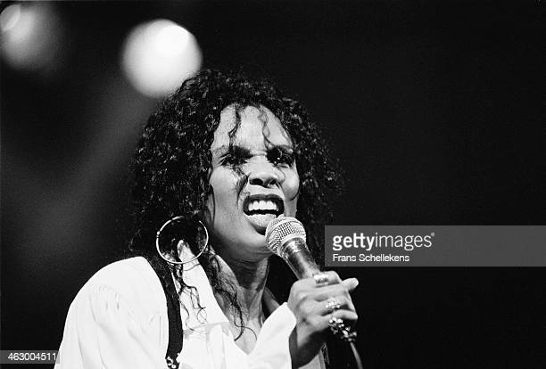 Joyce Kennedy, vocal, performs with Mothers Finest at the Paradiso in Amsterdam, the Netherlands on 9th May1990.